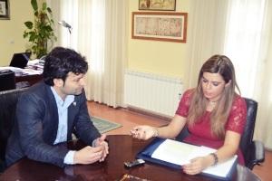 Entrevistando al alcalde de Tordesillas