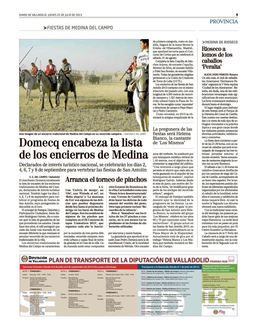 Rioseco a lomos de los caballos 'Peralta'