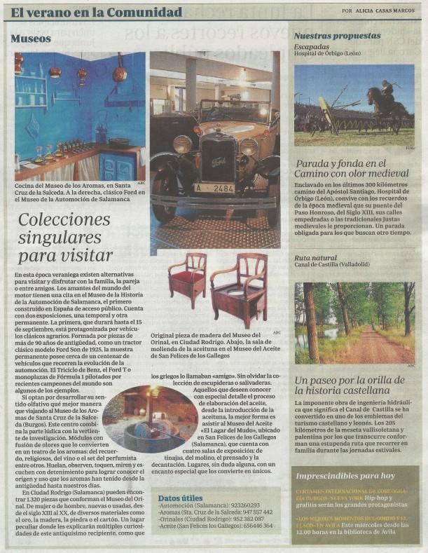 Alicia Casas, museos Castilla y León