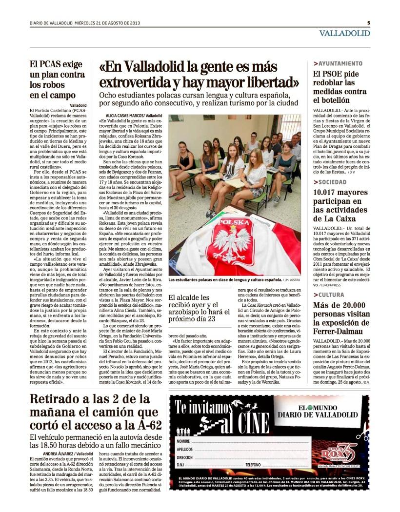Reportaje Alicia Casas Marcos estudiantes