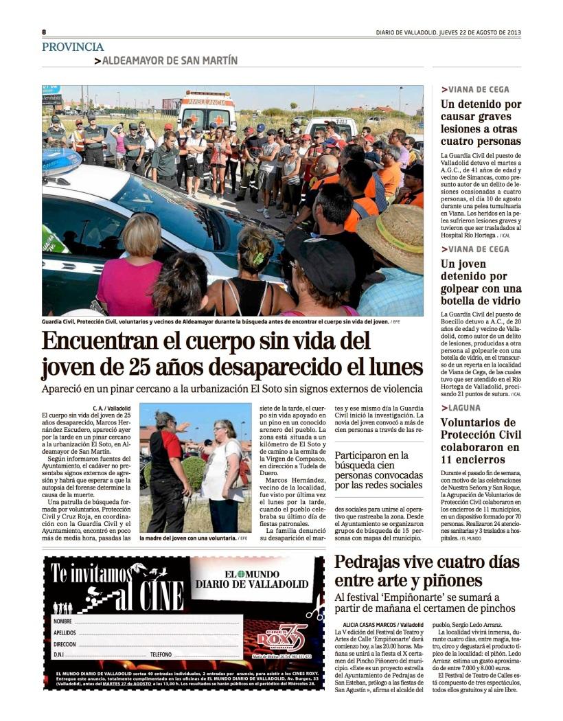 Reportaje Alicia Casas Marcos pedrajas